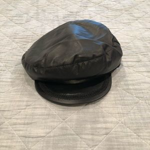 Zara black newspaper boy hat
